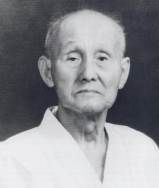 Portret van grootmeester Hironori Otsuka I