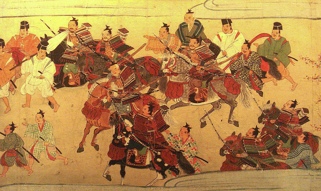 Samoerai uit de Muromachi periode omstreeks 1538.